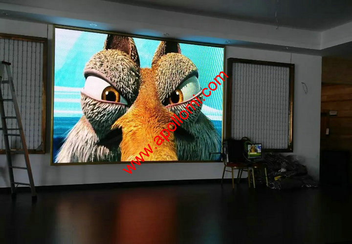 P5 fixed video led wall ad