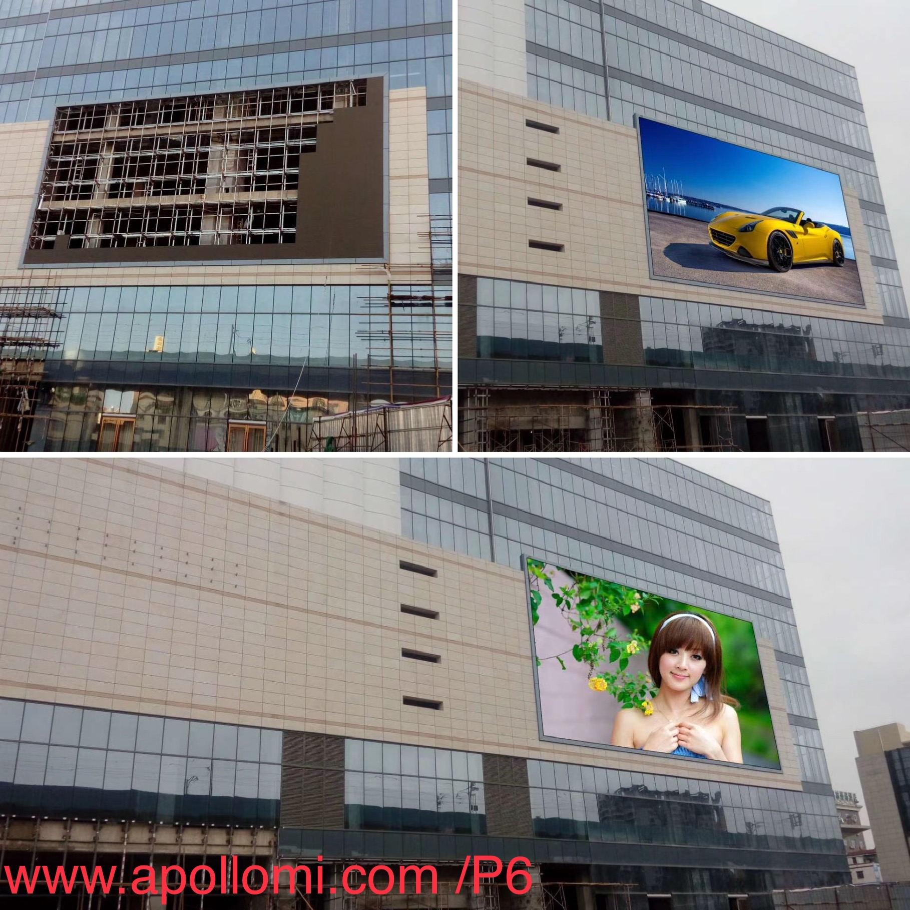 Outdoor P6 Video Super LED Wall