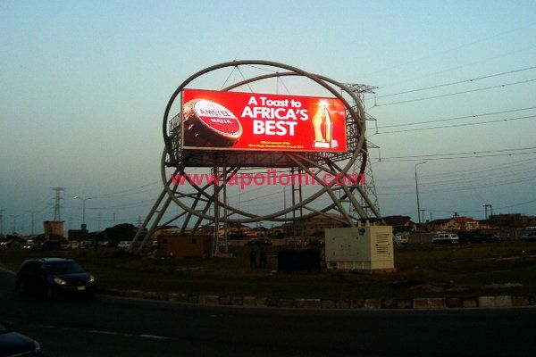 Nigeria 113sqm double side advertising 12mm led signs