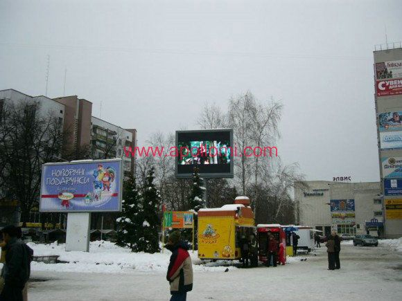 Russia outdoor P10mm led screen project