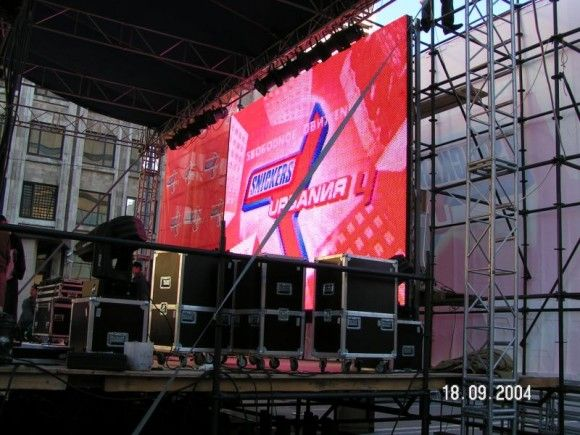 P10 aluminium rental led sign in Lithuania