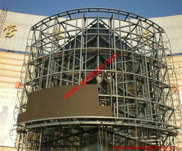 China 147m2 P16 Curved LED Screen On the Wall of a Shopping Mall
