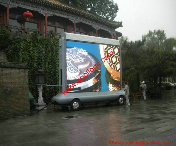 18SQM P10 mobile car led display in Beijing China